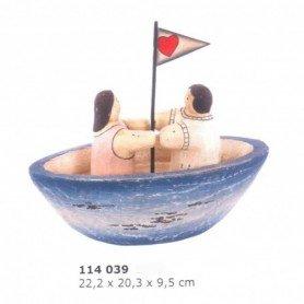 Maqueta velero con pareja a bordo