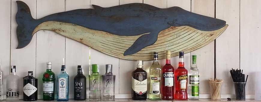 Decoraciones náuticas para restaurantes con artículos marineros