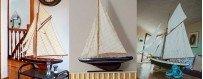 Maquetas de veleros modernos, réplicas de veleros de regata y cruceros