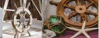 Ruedas de Timón para la Decoración Marinera de restaurantes y hoteles