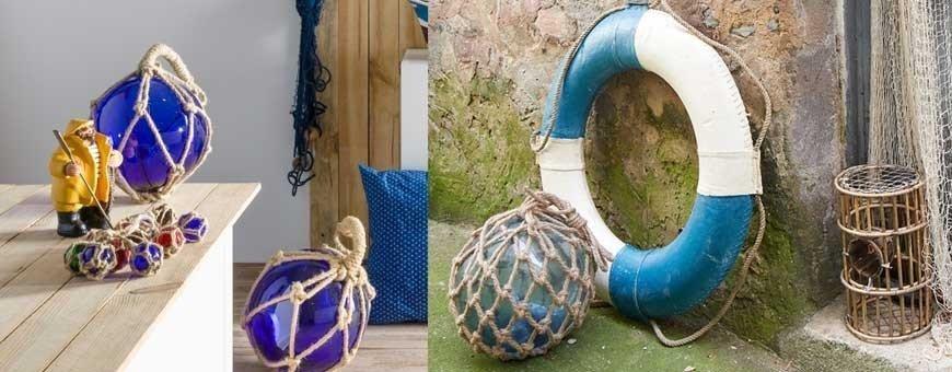 Salvavidas y boyas para decoración náutica de restaurantes y hoteles