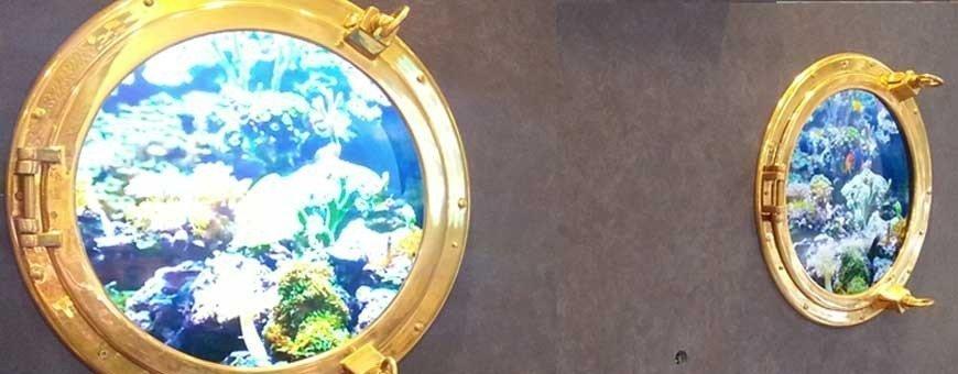 Espejos ojos de buey decoración marinera restaurantes y hoteles