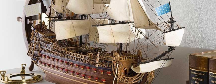 Maquetas de barcos de época de gama alta.