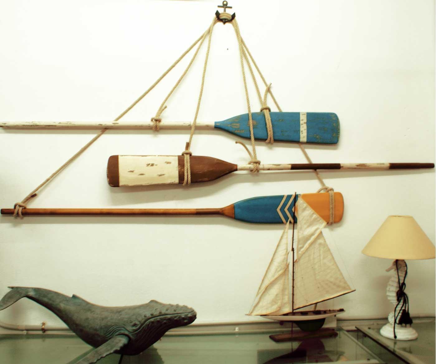 remo de madera decoracion marinera